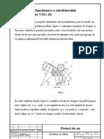 Principiul de funcţionare a zdrobitorului desciorchinător VDG