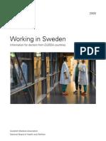 Working in Sweden 2009