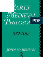 Marenbonearly Medieval Philosophy 480 1150 an Introduction