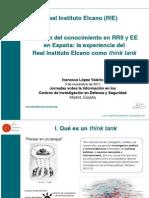 Gestión del conocimiento en Relaciones Internacionales y Estudios Estratégicos en España