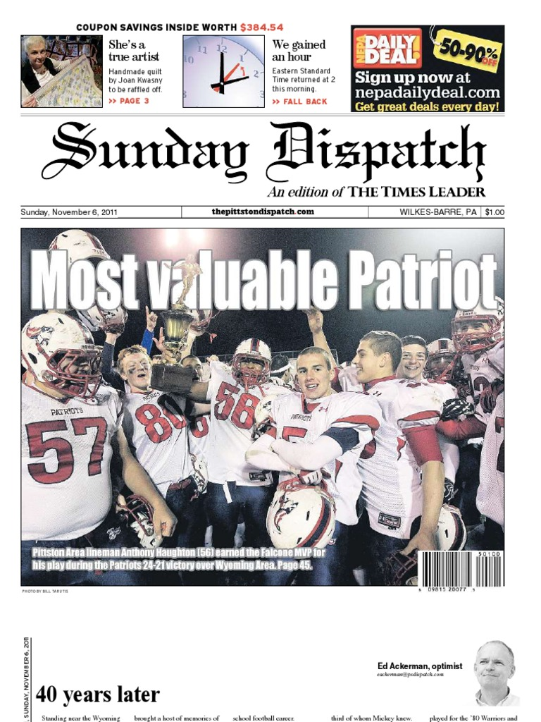 The Pittston Dispatch 11-06-2011 | Advanced Placement | Unrest