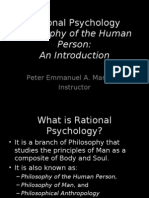Introduction to Rational Psychology