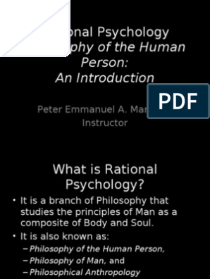 Mans soul: an introductory essay in philosophical psychology