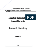 Mechanization Research Directory 2010