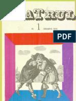 Revista Teatrul, nr. 1, anul XV, ianuarie 1970