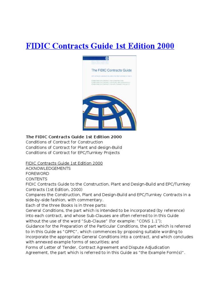 Fidic contract books general contractor adjudication fandeluxe Images