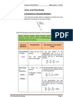 Unit 1 _Act 4_ Fractions and Decimals. _3º ESO_