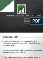 Pre Formulation Stability Studies