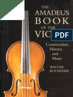 Walter Kolneder The Amadeus Book Of Violin