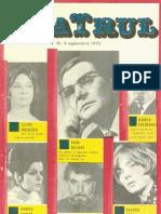 Revista Teatrul, nr. 9, anul XV, septembrie 1970