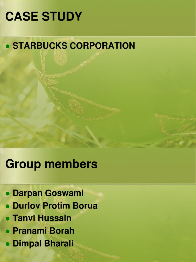 starbucks corporation case study