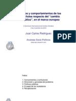 """Actitudes y comportamientos de los  españoles respecto del """"cambio  climático"""", en el marco europeo"""