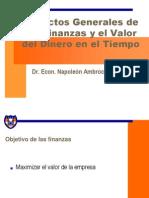 Finanzas Corporativas - Aspectos Generales de las Finanzas y el Valor del Dinero en el Tiempo - Maestría en Finanzas 2011- II UNFV (1)