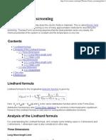 Thomas-Fermi Screening by Lindhard Formula