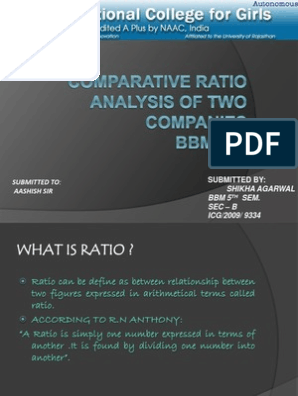 Comparative Ratio Analysis of Two Companies | Equity
