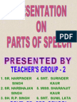 Parts of Speech Projects)