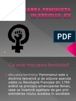 Miscarea Feminista in Secolul Xx
