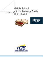 Language Arts Resource Guide