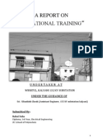 Training Report in a 132 k.v Substation