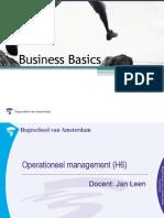 Business Basics MenO Operation Eel Management
