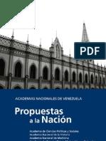 Propuestas a La Nación de las Academias de #Venezuela
