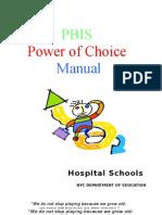 Manual -Power of Choice - Pbis