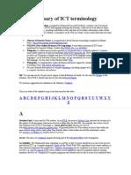 Glossary of ICT Terminology