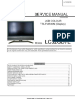 Sharp LC32GD7 Service Manual