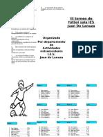 folleto torneo de futbol