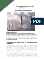 Manejo de contaminación del medio ambiental (practica gestion ambiental)