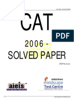 CAT 2006 Solved Paper
