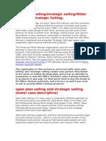Open Plan Selling-strategic Selling