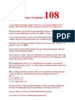 Significance of number 108