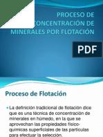 PROCESO DE CONCENTRACIÓN DE MINERALES POR FLOTACIÓN