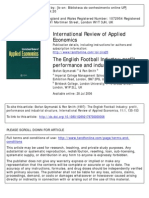The English Football Industry - Profit, Performance and Industrial Structure