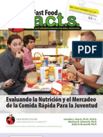 Fast Food Facts Report Summary Spanish