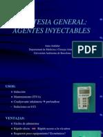 Anestesia inyectable