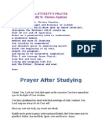 A Student Prayer Before and After Studying