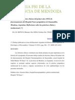 Análisis de las historias clínicas del primer año (1952) de funcionamiento del Hospital Neuropsiquiátrico de Guaymallén, Mendoza, Argentina. Reflexiones sobre las prácticas clínica e institucional.