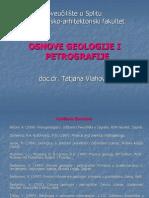 1. Uvod-Geologija i Petrografija