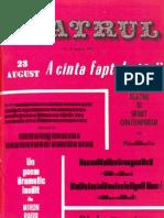 Revista Teatrul, nr. 8, anul XVIII, august1973