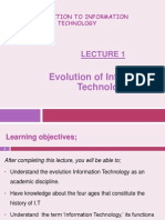 Lecture 1- Evolution of I.T