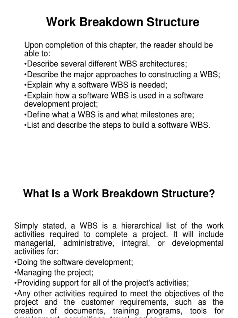 work breakdown structure trip Amazoncom: work breakdown structures: the foundation for project  management excellence (9780470177129): eric s norman, shelly a brotherton , robert.