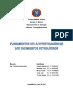 FUNDAMENTOS DE LA INVESTIGACIÓN DE LOS YACIMIENTOS PETROLÍFEROS