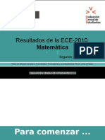 MATEMÁTICA ECE-2010