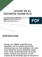 La Nutricion en El Paciente Diabetico Alimentos dos y Prohibidos(Club de Diabeticos 2011