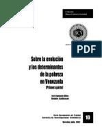 Informe sobre la Pobreza en Venezuela