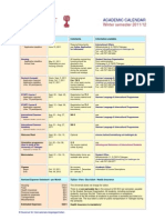 Academic Calendar Fall 2011-12 (2)