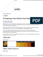 35 Inspiring Color Palettes
