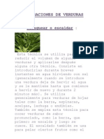 PREPARACIONES DE VERDURAS